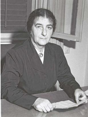 Golda Meir (1949), Photograph courtesy T. Brauner and Wikipedia Commons