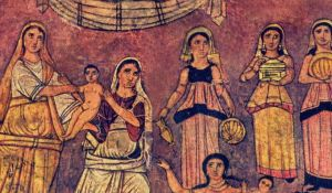 Duro-Europas Synagogue Mural (3rd c.).  Source: Wikimedia Commons.