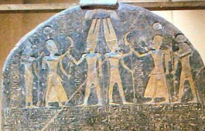 Merneptah Stele, earliest non-Jewish reference to Jewish history. Source: Wikimedia Commons.