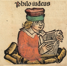 Depiction of Philo Judaeus in the Schedelsche Weltchronik (1493).
