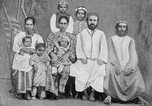 Jews of Cochin. Source: Jewish Encyclopedia via Wikimedia Commons.