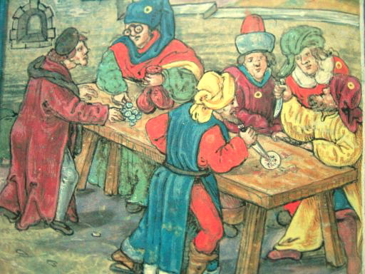 Depiction of Host Desecration in Sternberg, Germany (1492). Diebold Schilling the Younger [Public domain], via Wikimedia Commons