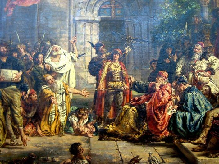 "Jan Matejko (1838-1893), ""Reception of the Jews in Poland in 1096,"""