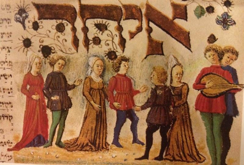 14th century illuminated manuscript. Source: Wikimedia Commons.